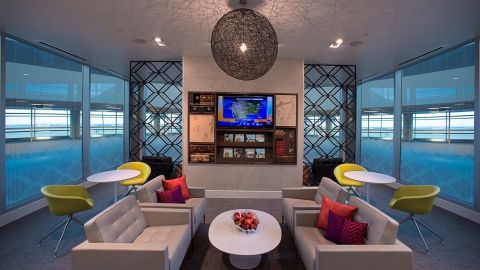 Access the American Express Centurion Lounge in Dallas with the Delta Reserve Business Amex credit card.