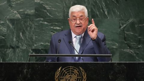 Palestinian President Mahmoud Abbas speaks at the United Nations General Assembly on September 27, 2018, in New York City. World leaders gathered for the 73rd annual meeting at the UN headquarters in Manhattan.