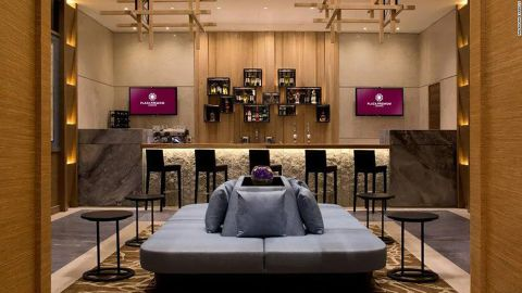 Visit the Plaza Premium Lounge at London Heathrow, part of the Priority Pass Select network.