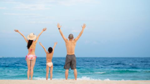 Use the Capital One Venture to take your family on a beach vacation.