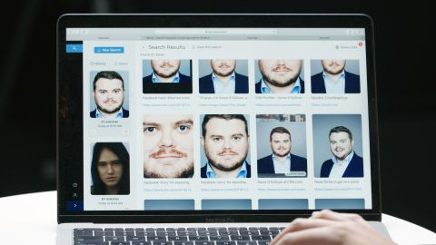 CNN Business' reporter Donie O'Sullivan ran his photo through Clearview AI's software during a demo at CNN's studio.