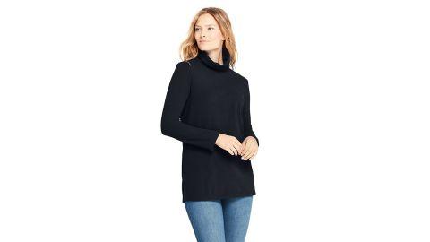 Land's End Women's Fleece Turtleneck Tunic Top