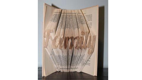 Custom Folded Book Art