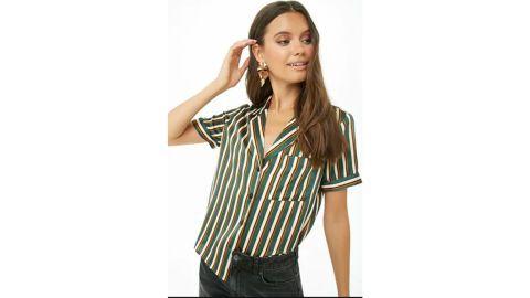 Satin Striped Shirt