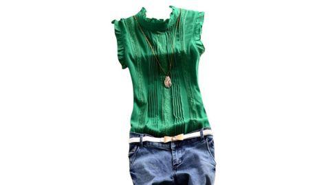 EFINNY Women Sleeveless Office Work Casual T-Shirt Blouses