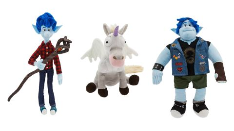 Onward plushies Ian, Unicorn and Barley
