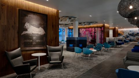 The Amex Centurion Lounge in Charlotte features over 13,000 square feet of space.