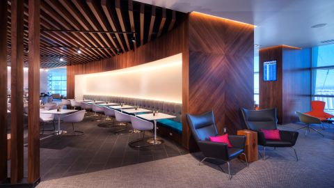 The Amex Centurion Lounge in Las Vegas is easily the best lounge in the airport.