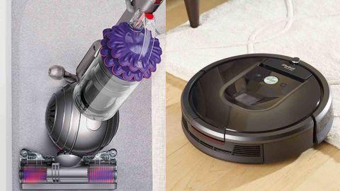 Refurbished Dyson Ball Animal Upright Vacuum and Refurbished iRobot Roomba 960 Robot Vacuum