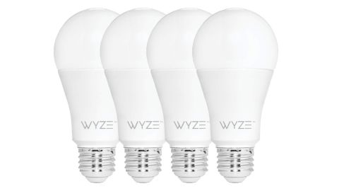 A set of four smart bulbs from Wyze.