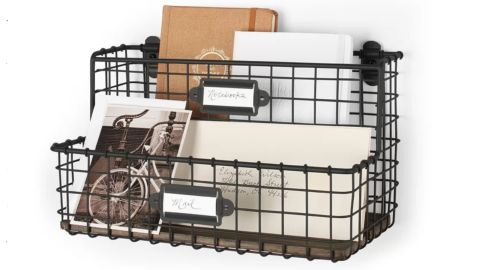 Wayfair Dotted Line Cady Vintage Mount Office File and Letter Holder Wall Organizer