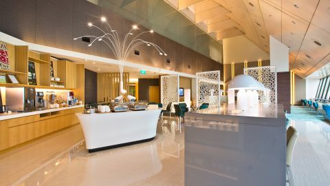 The Ambassador Transit Lounge in Singapore's Terminal 2, accessible with a Priority Pass membership.