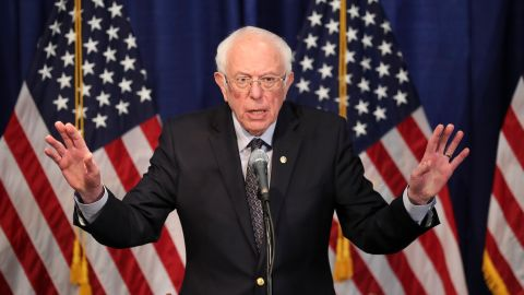 """Sanders speaks to reporters in Burlington, Vermont, a day after <a href=""""http://www.cnn.com/2020/03/10/politics/gallery/super-tuesday-ii-primaries-2020/index.html"""" target=""""_blank"""">Super Tuesday II.</a> Sanders said it """"was not a good night for our campaign from a delegate point of view"""" but that he looked forward to staying in the race and taking on Joe Biden in an upcoming debate."""