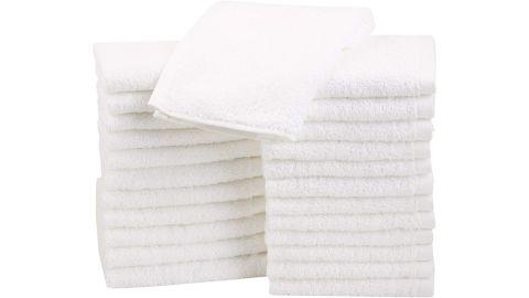AmazonBasics Cotton Washcloths, Pack of 24