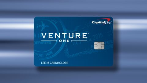 The Capital One VentureOne Rewards Credit Card.