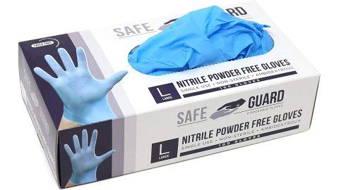 Safeguard Nitrile Disposable Gloves 100-pack