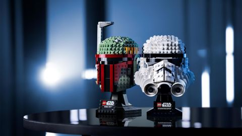 LEGO has three new Star Wars sets in town, pictured here are the Boba Fett and Stormtrooper helmets