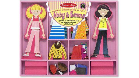 Melissa & Doug Abby & Emma Magnetic Dress-Up Set