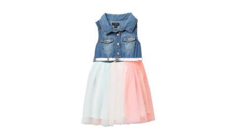 Zunie Denim Rainbow Dress (Toddler and Little Girls)