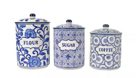 Drew Derose Ceramic Food Canister Set of 3