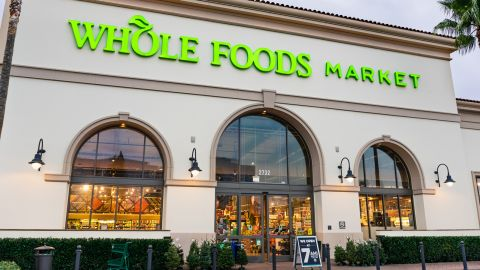 If you buy groceries at Whole Foods, you'll earn 5% cash back on them with the Amazon Prime Rewards Visa card.