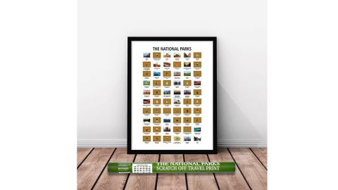National Parks Scratch-off Map