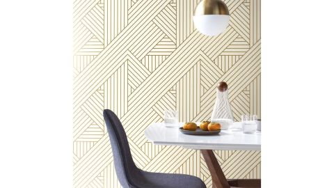 Project 62 Ribbon Peel And Stick Wallpaper Gold/Ivory