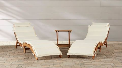 Alois Chaise Lounge Set with Cushion and Table