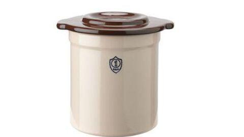 1-Gallon Stoneware Pickling Crock with Cover - Gardener's Supply Company