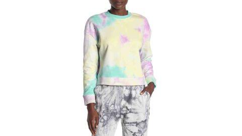 John & Jenn Tie Dye Crew Neck Sweatshirt