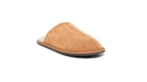 Minnetonka Stuart Center Seam Scuff Faux Fur Slipper