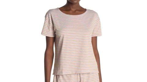 Madewell Piper Stripe Print Sleep T-Shirt