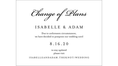Wedding Change the Date Card