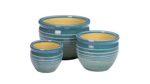 Crelake 3-Piece Ceramic Pot Planter Set