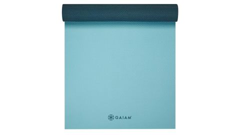 Gaiam SB 6mm Yoga Mat in Purist Blue/Gray