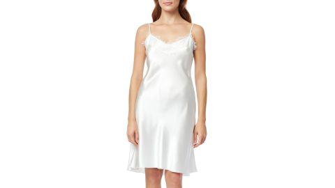 The White Company Lace Trim Silk Chemise