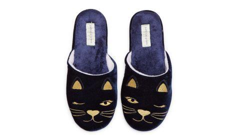 Patricia Green Winking Kitty Slipper