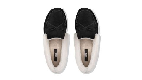 Clara Shearling Suede Moccasin Slippers