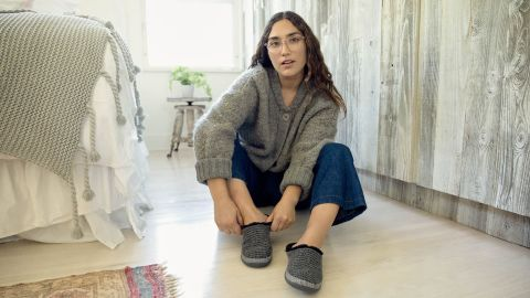Toms Natural Sweater Knit Women's Ivy Slippers