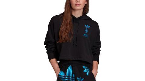 Adidas Women's Originals Large Logo Cropped Hoodie