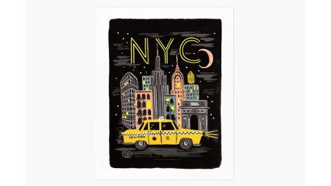 Bon Voyage NYC Art Print
