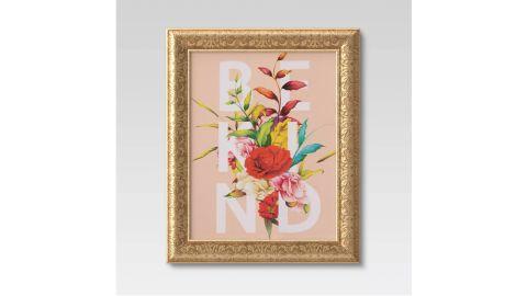 "Opalhouse ""Be Kind"" Flowers Framed Canvas"