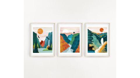 National Park Art, Set of 3 Prints