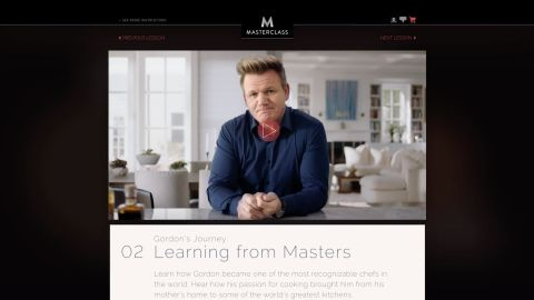 Gordon Ramsay teaches Cooking I on MasterClass