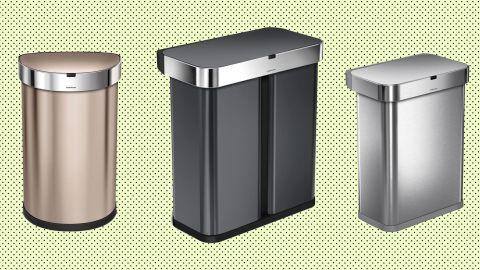 Simplehuman sensor trash cans