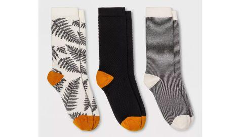 Women's Fern 3-Pack Crew Socks - A New Day