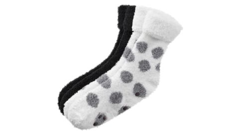 Earth Therapeutics 2-Pack Dotted Shea Butter Thera-Soft Socks
