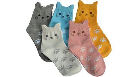 Jeasona Women's Cute Animals Novelty Socks, 5 Pairs