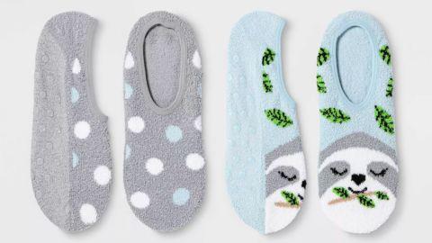 Women's Sloth 2-Pack Cozy Pull-On Liner Socks