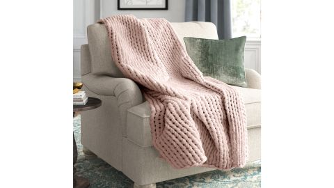 Blush Marvelyn Double Knit Throw